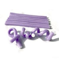Wholesale Foam Bendy Rollers - Hair Rollers Plastic, Bendy Rollers DIY Wavy Style 1 Pack, 10 strands hair rollers curls Stick Spiral Curls Tool