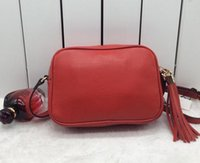 Wholesale Red Profile - Hot Fashion design shoulder bag ladies tassel Litchi profile women messenger bags 100% genuine PU bag 308364