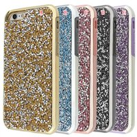 Glitter Bling Diamond hybride TPU plaidant PC Case pour Iphone 7 6S 6 Plus 4.7 5,5 I6S 5 5S 5ème Chrome Armure Phone couverture de peau de luxe 50pcs
