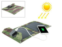 Wholesale Solar Charging Mobile Phones - Portable Folding Foldable 5W 5V USB Camping Solar Panel Powered Charging Charger Battery Mobile Cell Phone Power BankCharger