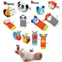 venta al por mayor beb traqueteo juguetes mueca foot finder pequeo juguete suave beb para nios de meses infantil recin nacido calcetines de