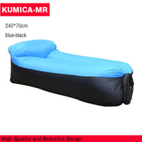 Wholesale inflatable air sofa no pump Lounger lay bag inflatable lip sofa Portable Sleeping Bag Balloon with pillow shape