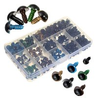 Wholesale Plastic Safety Eyes 12mm - 264pcs DIY Plastic Eyes Dolls Part6-12mm Black 10 12mm Colorful Safety Eyes For Teddy Bear Doll Animal Crafts Dolls Accessories