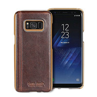 Wholesale Hard Snap Case - Pierre Cardin Premium Genuine Leather Slim Hard Fit back Case snap cover Skin for Samsung Galaxy S8 Plus S8+