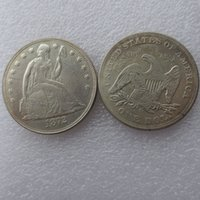 Wholesale Europe Retail - Hot selling 1872cc Seated Liberty Silver Dollars One Dollar Coins Retail Cheap Factory Price nice home Accessories Silver Coins