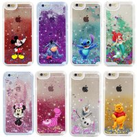 Wholesale Glitter For Phones - Cartoon Quicksand Liquid Glitter Bling Hard Phone Case For iPhone 5 SE 6 6s 7 7 plus