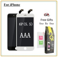 Wholesale iphone digitizer film online - For iPhone Plus Quality AAA LCD Display Digitizer Touch screen with Full set Assembly Toughened glass protective film By Fast DHL