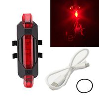 Nouveau LED Night Mountain Bicycle Cyclisme Tail Light USB Rechargeable Red Warning Light Bike Rear Safety Bike Accessories