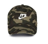 Wholesale Camo Hats Caps - camouflage It's Lit Custom Camo Unstructured Baseball Dad Hat 6 panel Cap New TRAP JUST DO IT Air Japan Air Tokyo baseball Cap