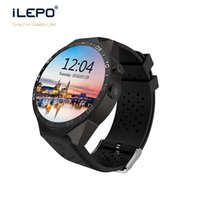 Wholesale gsm heart rate online - KW88 round screen smart watch with phone GSM WCDMA Android wifi APP download install smart phone watch for men