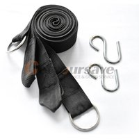 Wholesale Wholesale Roped Hammocks - Wholesale- 2X 3M Strong Strap Belt Hammock Tree Straps Hanging Straps Rope+2 Hooks Vogue