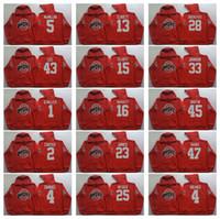 Wholesale men s sleeveless jackets - Ohio State Buckeyes Red Men Jerseys 15 Elliott 97 Joey Bosa 12 C.JONES 16 BARRETT 1 B.Miller Hoodie Hooded Sweatshirt Jackets Jersey