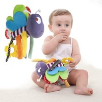 Wholesale bee plush toy - Wholesale- Free Shipping Plush Toy Bee To Appease Hanging Baby Insect Car Hanging Toy
