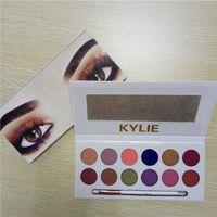 Wholesale Eyeshadow Gels - Kylie Kyshadow the royal peach palette Pressed Powder Eyeshadow Matte Eyeshadow Gel Waterproof Eye Shadow 12 color Free shipping by DHL