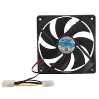Wholesale Cpu Fan Noise - Wholesale- 120MM Large Air Flow 4 Pin Interface Computer Fan Low Noise Silent DC 12V Chassis Fan CPU Cooling Fan Cooler
