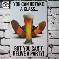 engraçado parede sinais venda por atacado-Engraçado Pintura Poster Vintage Metal Lata de Sinais 20X30 CM Placa de Ferro Decoração Da Parede Placa Clube Bar Em Casa Loja de Café galeria
