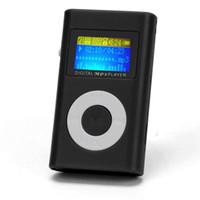 joueur achat en gros de-Vente en gros USB Mini Clip MP3 Player Support d'écran LCD 32GB Micro SD Carte Slick Design élégant dans un étui compact avec Clip