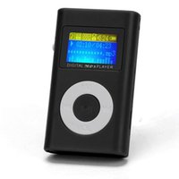 Wholesale black mini clip mp3 player online - USB Mini Clip MP3 Player LCD Screen Support GB Micro SD TF Card Slick Stylish Design in a Compact Case with Clip