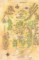 Wholesale Korean Kids Cloths - Free Shipping Map Of The Shannara Chronicles High Quality Art Posters Print Photo paper 16 24 36 47 inches