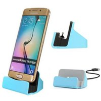 Wholesale Mobile Phone Charger Station - Micro USB Charge Sync Type C Android Mobile Phone Dock Charger Docking Stand Station Cradle with pack For Samsung S6 S7 Edge free DHL