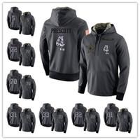 Wholesale Dan Black - Mens Sweatshirts 4 Dak Prescott 5 Dan Bailey 11 Cole Beasley Salute to Service Player Performance Hoodie
