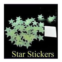 Free FedEx shipping 100set / lot = 10000pcsHome Wall Glow No Dark Star Stickers Decal Baby Kids Gift Nursery Room