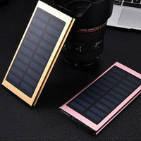 Wholesale Wholesale Supply Smart Phones - NEW Brand 20000mAh Portable solar power bank Ultra-thin Powerbank backup Power Supply battery Power charger For Smart Phones