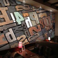 Wholesale Block Country - Customized KTV Bar Wallpaper Cafe Mural Living Room Restaurant Vintage Wallpaper 3D Wood Block Personality Letter
