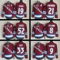 Wholesale Peter Forsberg - Colorado Avalanche jerseys Hockey jersey Patrick Roy Peter Forsberg 8 Teemu Selanne 19 Joe Sakic Adam Foote CCM Hockey jerseys Stitched