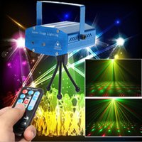 Wholesale High Quality Stage Lasers - High quality Black New Mini Lazer Pointer Projector light DJ Disco Laser Stage Lighting for Xmas Party Show Club Bar Pub Wedding