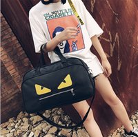 Wholesale Handbag Cartoon Shoulder - hot sale women wen fashion Monster travel totes bags High-capacity waterproof oxford handbags Sports body-building bags shoulder bags