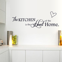 Wholesale Small Kitchen Stickers - 15*60cm Love Heart The Kitchen Wall Stickers DIY Art Decal Removeable Wallpaper Mural Sticker for Kitchen Glass