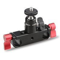 "Wholesale Mounting Rods - CAMVATE 15mm Rod Support Railblock w  1 4"" Ball Head Mount fr DSLR Camera Rig System"