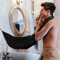 Wholesale Sale Trimmers - Man Bathroom Apron Black Beard Care Trimmer Hair Shave Apron for Man Waterproof Floral Cloth Household Cleaning Protections Hot Sale 0703083
