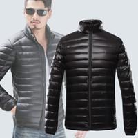 Wholesale Korean Long Coat Male - Wholesale- Winter Jacket Men Luxury 2015 Korean Slim Fit Down Jacket Male Solid XXXL Parka Men Long Comfortably Thin Coat Men 6 Colors