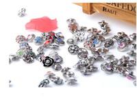 Wholesale Earrings Hooks Mixed - 12mm mini charm snap button noosa button rhinestone mix many styles fit bracelet pendant necklace earrings top quality hot sale drop sale
