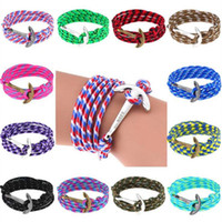 Wholesale bracelets anchor china for sale - Group buy 60 Styles Anchor Bracelets Infinity Multilayer Wrap Rope Bracelet Charm Fish Hook Anchor Pulsera Gift Jewelry