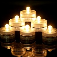 Wholesale Underwater Sub - 2016 Newly Underwater LED Candles Lights Submersible Tea Light Waterproof Candle Sub Lights Battery Waterproof Night Light