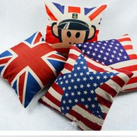 Wholesale Cushions Wholesalers America - Printed In the United States of America UK Flag Pattern Cotton Linen Pillow Cushion Case Cover 5 Style Home Sofa Decor Pillow Case