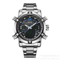 Wholesale Weide Wristwatches - Watches Men Luxury Brand WEIDE Sports Full Steel Watch Men's Digital Quartz Clock Man Army Military Wristwatch relogio masculino