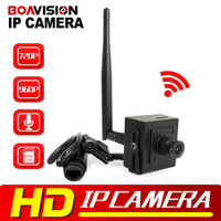 Wholesale Ip Camera Android Audio Hd - Super Mini HD 960p 720P Wireless IP Camera Wifi CCTV Network Cam Microphone Audio SD Card P2P Support Android iPhone