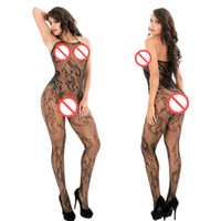 Wholesale Women See Through Bodystocking - Transaprent Lingerie See Through Hollow out open crotch tight fishnet Bodystocking Sexy Lingerie Women sexy Outfit Sexy Bodysocks
