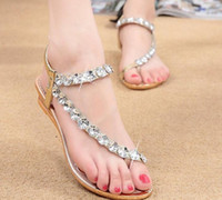 Wholesale Thong Wedges Sandals - Women Sandals Fashion Bohemia Women's Shoes Flower Sandalias Femininas Casual Thong Flats Shoes Women