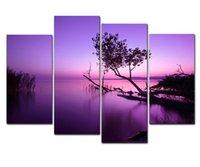 obra de arte giclee al por mayor-Purple Lake Modern Giclee Artwork Mar Canvas Prints Imagen a la foto Wall Art para la decoración del hogar