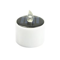 Compra Luce Di Candela Di Energia Solare-6 Pezzi / Lotto Nuova Tipo Candele Gialle Flicker Solar Power LED Candless Flameless Lampada solare LED Nightlight Candela di energia solare