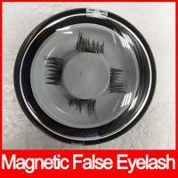 Wholesale Magnet Pair - Hot sales Magnetic False Eyelash EyeLash Extension Tools handmade easy to wear magnet false eyelash 4pcs pairs