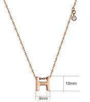 Wholesale High Quality Promotional Gifts - Best promotional gifts for women wholesale high quality gift jewelry fashion letter H pendant necklace with diamond new design love necklace