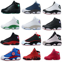 Men sports team fabrics - Air retro XIII Basketball Shoes men bred flints playoff grey toe He Got Game team red Ray Allen pe altiudes sports Sneaker