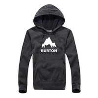 Wholesale Male Overcoat - New Autumn Winter Burton Printed Hoodies Men Casual Fleece Long Sleeve Overcoat High Quality Male Hip Hop Pullover Sweatshirts
