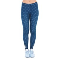 Wholesale Navy Girl Leggings - Lady Leggings Dot Freeride Deer Horn Bee Navy Print Women Stretchy Tight Capris Soft Pants Yoga Girls Workout Full Length Trousers (J43467)